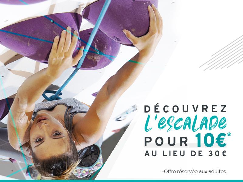 Cours découverte escalade à 10€ à Climb Up Lille Lesquin